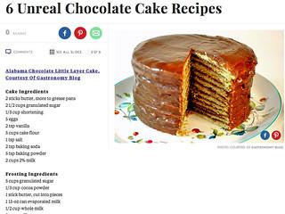 6 Unreal Chocolate Cake Recipes