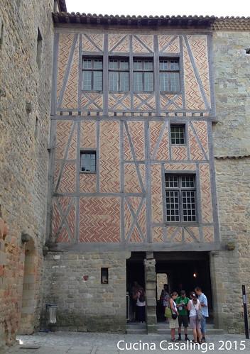 Carcassonne Burg Fachwerk