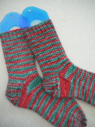 Heather's Yule socks