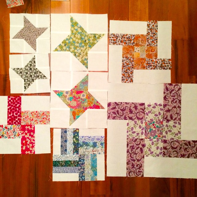 Sampler Blocks with Liberty scraps