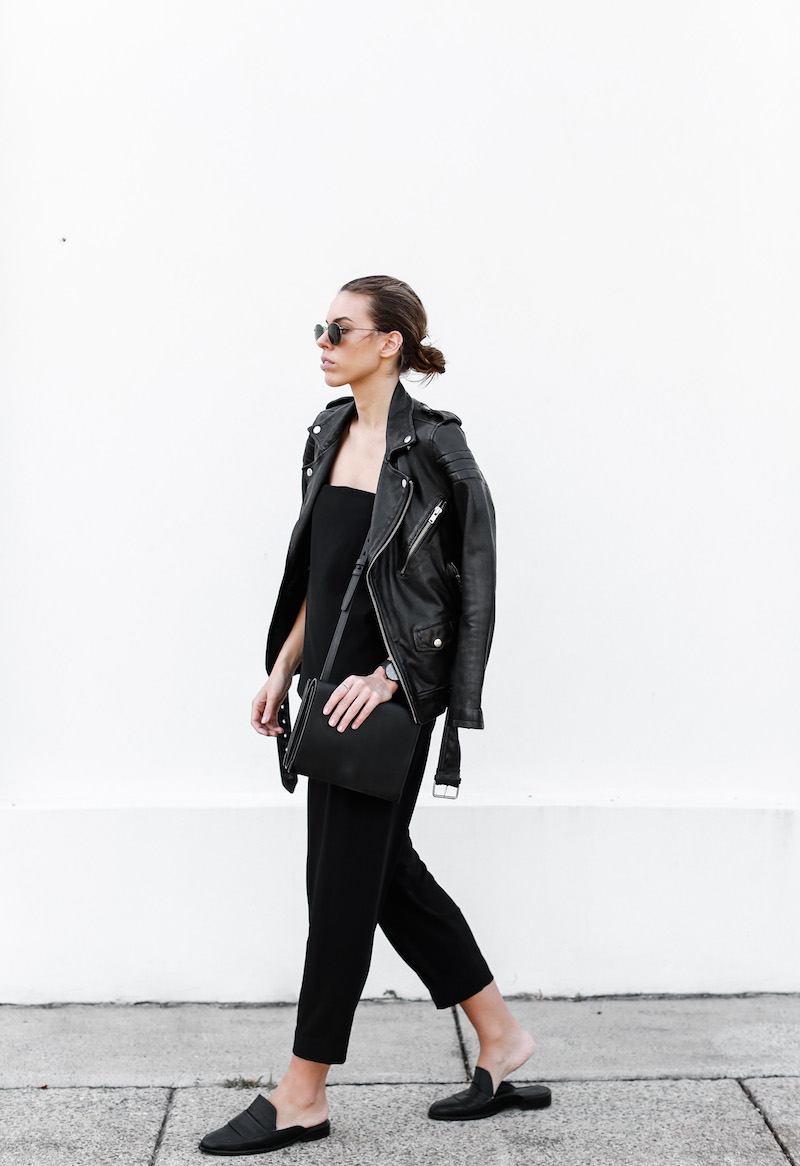 MODERN LEGACY fashion blog Australia all black minimalist street style Matches Fashion BLK DNM leather biker jacket (2 of 9)