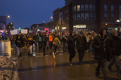 Minneapolis high school students march through the streets