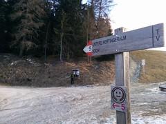 Start am Parkplatz Richtung Unterpertinger Alm