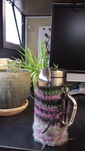 Mug-warmer and spoon