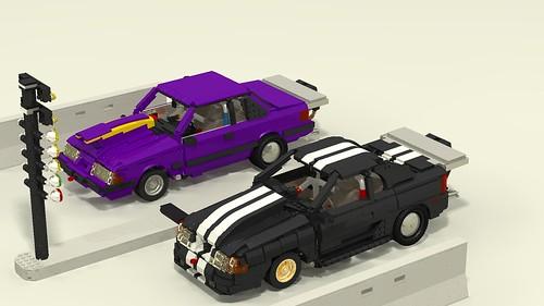Mustang Drag Race closeup