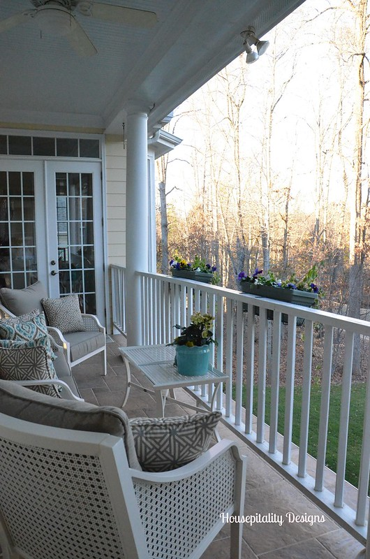 Upper Porch in Winter-Housepitality Designs