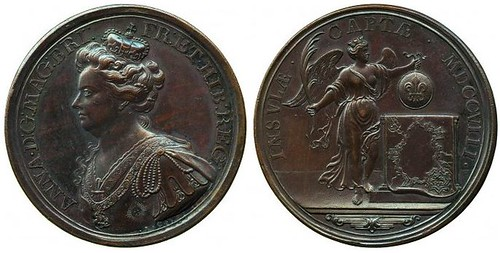 Medal Anne, Capture of the Citadel of Lille, 1708