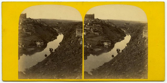 Torno del Tajo desde el Valle en 1863. Fotografía de Ernest Lamy. Colección Luis Alba