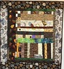 After My Coffee, 30x33 inch art quilt, 2014