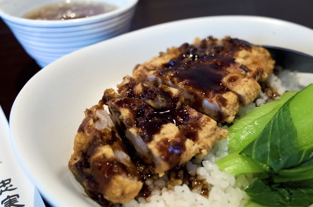 Fried pork ribs bowl / パーコー飯 / 忠実堂 (千葉県船橋市)