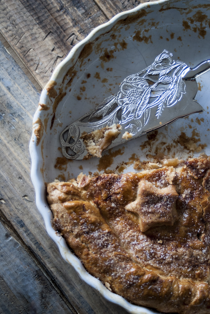 Tarta de manzana estilo