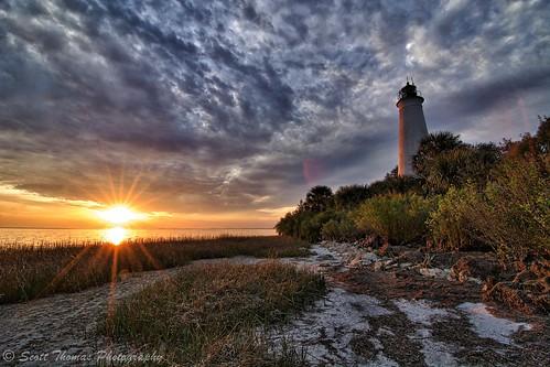 trees winter sunset sky lighthouse nature clouds sand florida wildlife flare stmarksnationalwildliferefuge intensifypro