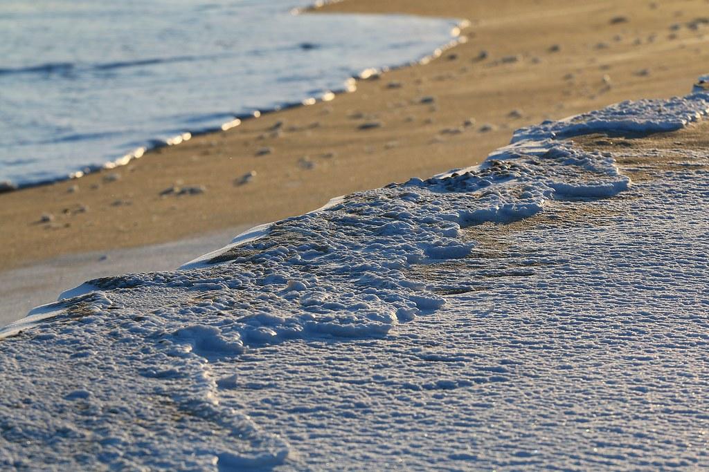 Ice on the beach at Montauk