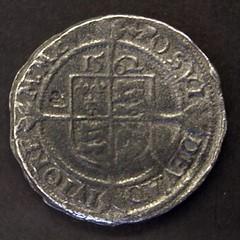 1562 Tudor sixpence