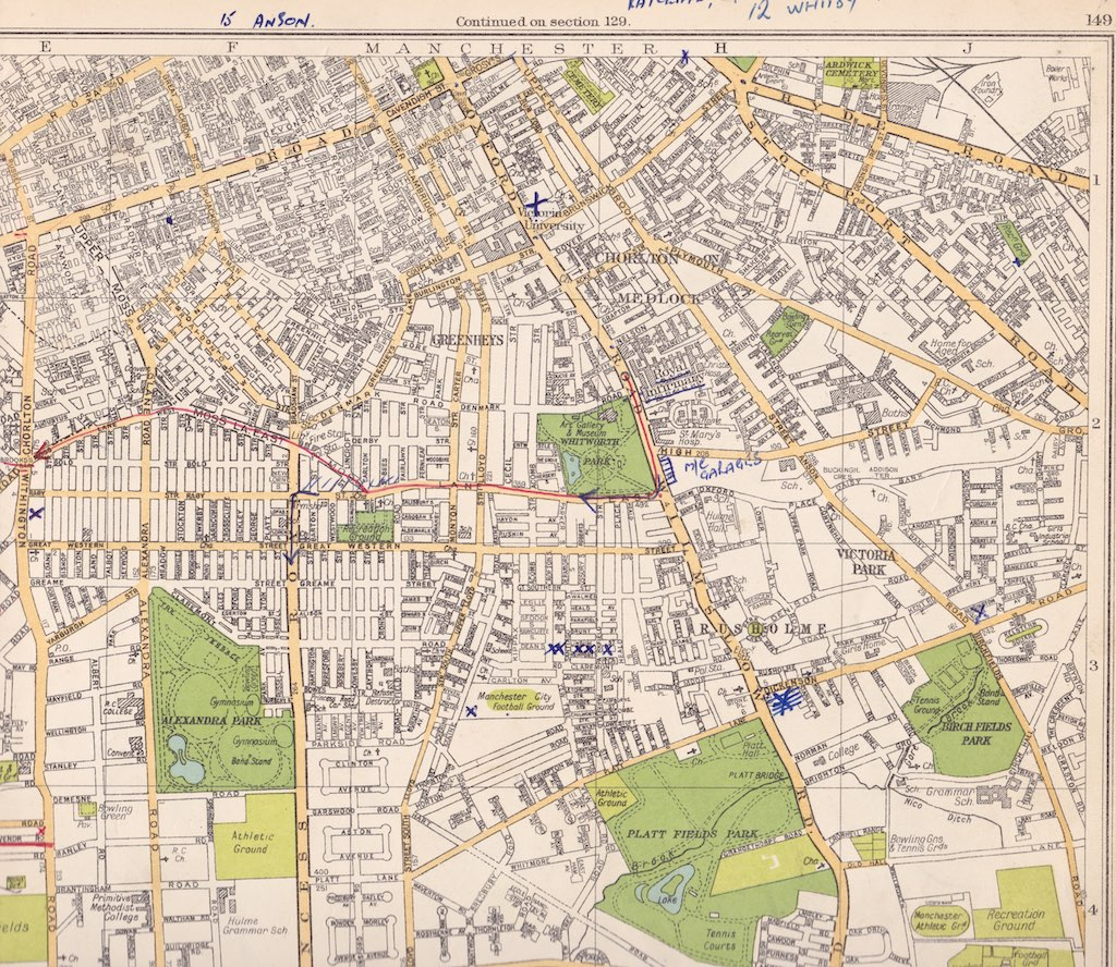 Street Plan Of South Manchester C1935 Hulme Moss Side Flickr