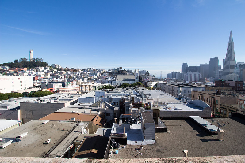 view over San Francisco, California