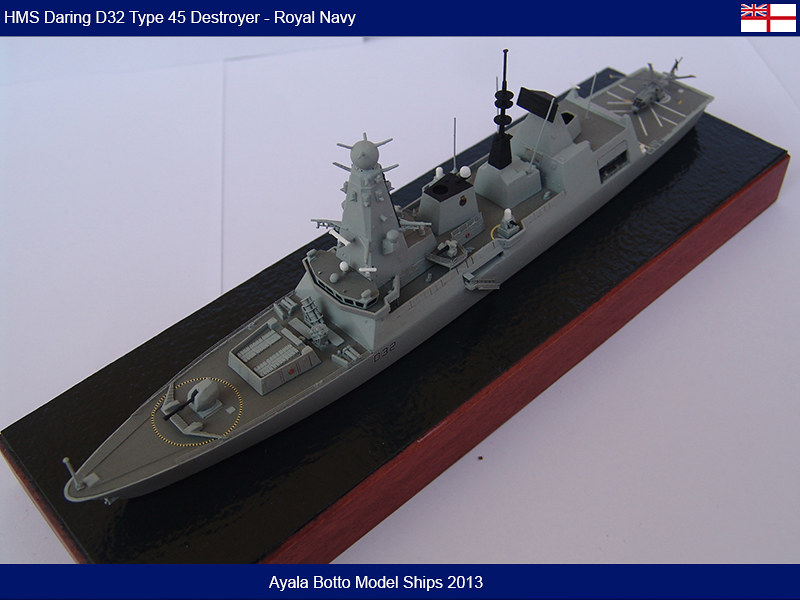 HMS Daring D32 Type 45 Destroyer Royal Navy - Cyber Hobby 1/700 16673861571_a05137332a_c
