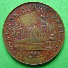 Fountains Abbey Settlers token obverse