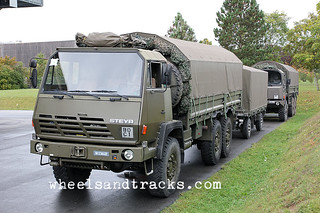 Steyr 1491 and Trailer - Swiss Army Bière