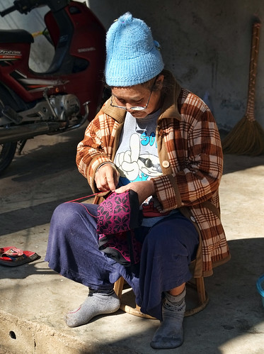 Northern Thailand...Needlework in the Sun (Doi Pui)