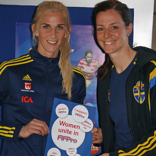 Sofia Jakobsson and Lotta Schelin
