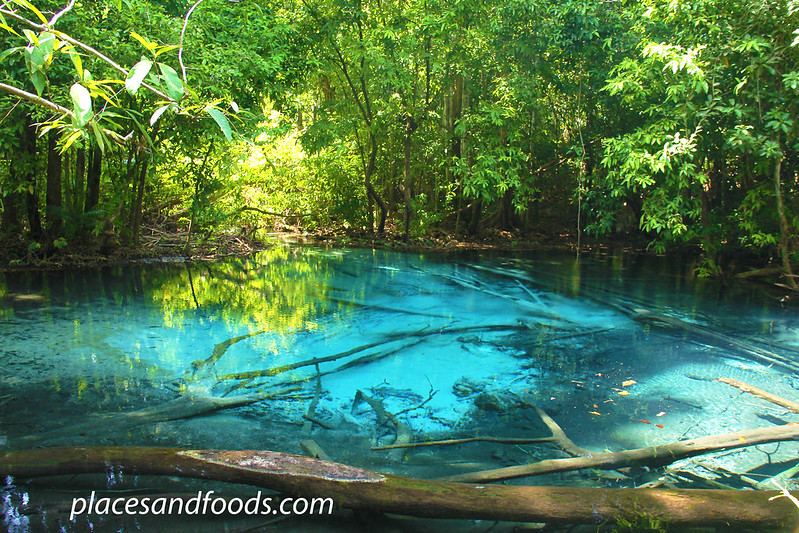 krabi blue pool in the jungle