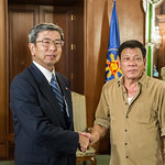 President Nakao meets with Philippine President Duterte