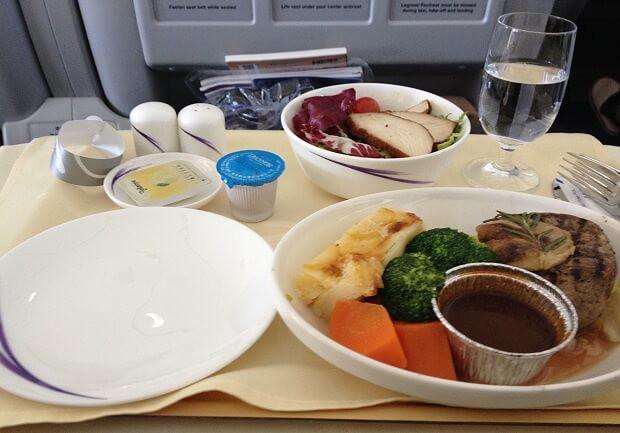 160710 チャイナエアラインビジネスクラスの食事