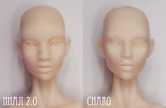 Inamorata 2.0 Head Sculpts: Nnaji & Charo