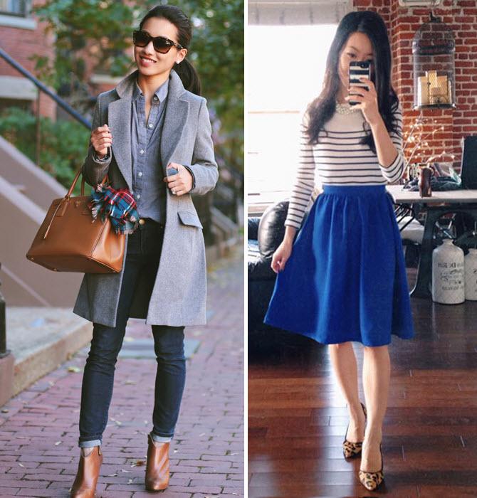 asos wool coat and full skirt