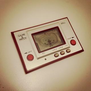 The original Nintendo Game & Watch BALL from 1980.