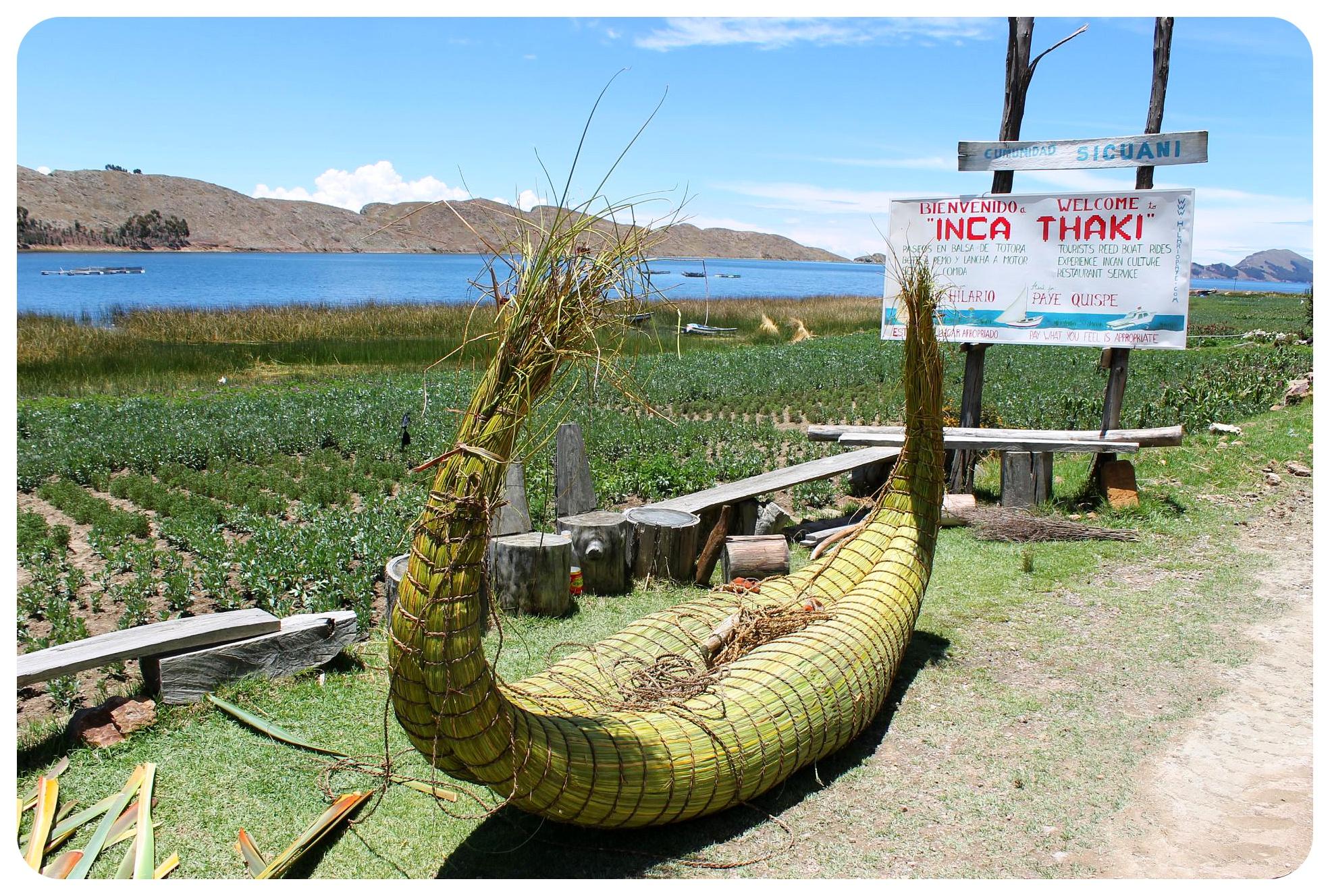 lake titicaca reed boat
