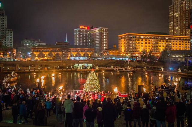 Christmas Waterfire Providence Rhode Island Flickr