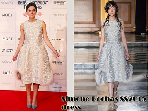 Keira Knightley in Simone Rocha's SS2015 floral dress