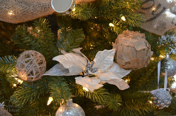 Twine Ball and Burlap Ornament