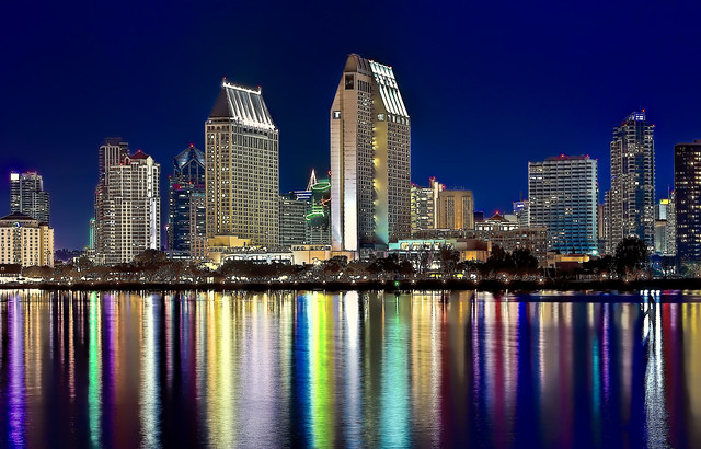 The skyline of San Diego, California, U.S.A. @ the Blue Hour