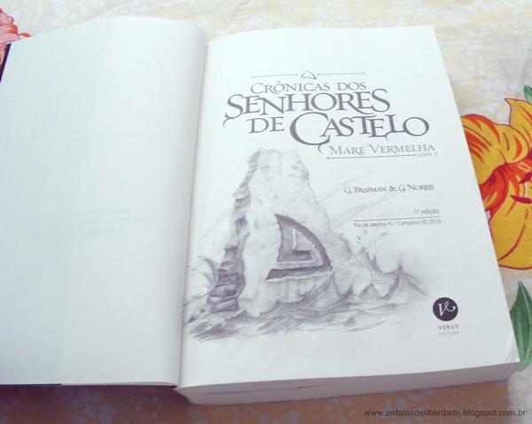 Crônicas dos Senhores de Castelo, Maré Vermelha, G. Brasman & G. Norris, livro, série, ficção, resenha, trechos, Verus, sorteio, marcadores