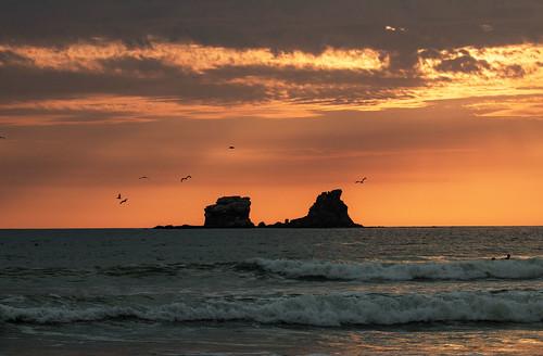 sunset ecuador ayampe manabiprovince