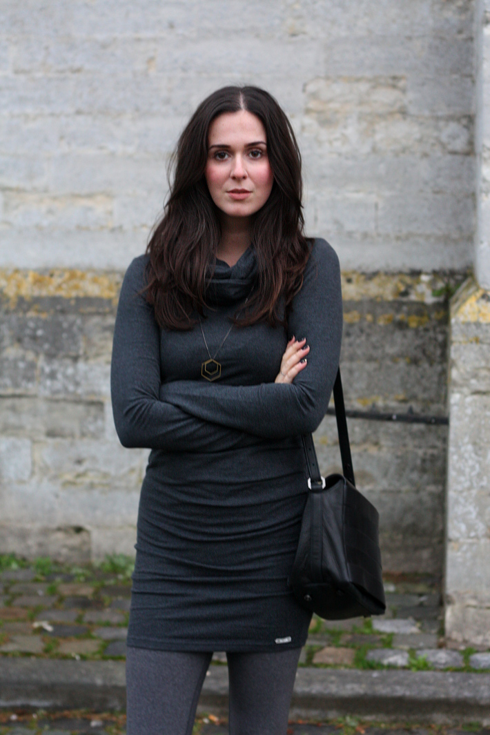 feminine casual outfit: Bench sweater dress