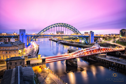 longexposure morning bridge night sunrise river newcastle long tyne leefilters