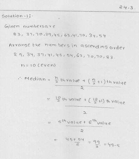 RD Sharma Class 9 Solutions Measures of central tendency Ex 24.2 14