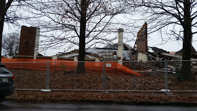 20150103_112221 2015-01-03 demolition 345 Glen Iris Creomulsion Building Atlanta GA Old 4th War