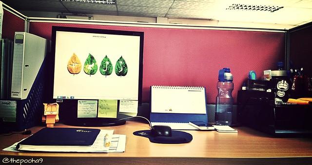 my desk in office. 2015
