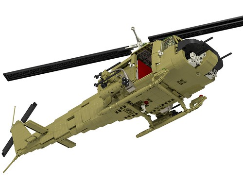 UH-1B Huey Hog front lower right