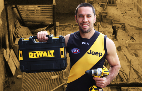 DeWalt is continuing its partnership with Richmond football club for the 2015 season