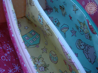 Touch of Spring- cosmetic bag- pockets