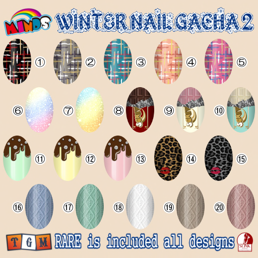 WINTER NAIL GACHA 2 POP