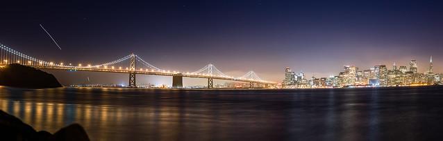 San Francisco-Oakland Bridge Skyline