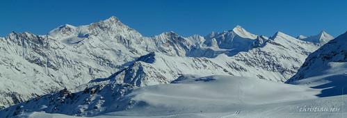panorama alps landscape schweiz switzerland suisse photomerge wallis valais grimentz weisshorn besso anniviers aples obergabelhorn bordon zinalrothorn valdanniviers bishorn moming wellenkuppe diablons schalihorn tsarvaz