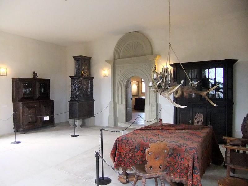 Bedroom inside Neuenburg Castle (Schloss Neuenburg) - Freyburg, Saxony-Anhalt, Germany